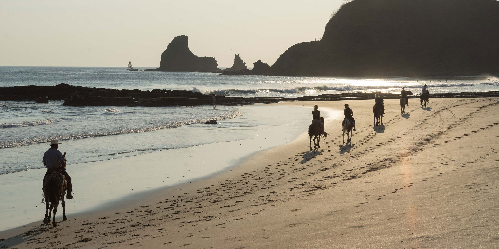 Bather - Excellent Adventures - Horseback riding in Nicaragua on the beach