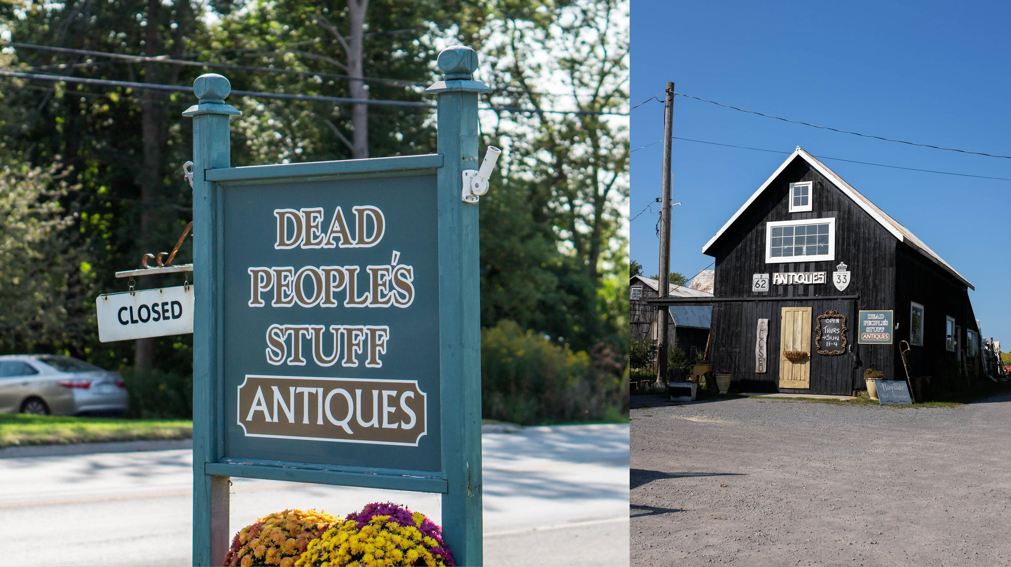 Dead People's Stuff Antiques Shop in Prince Edward County