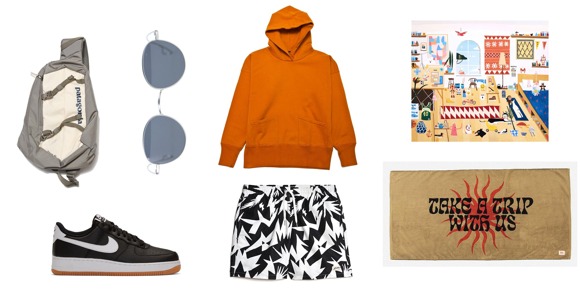 Bather Gift Guide for the Black Abstract Swim Trunks