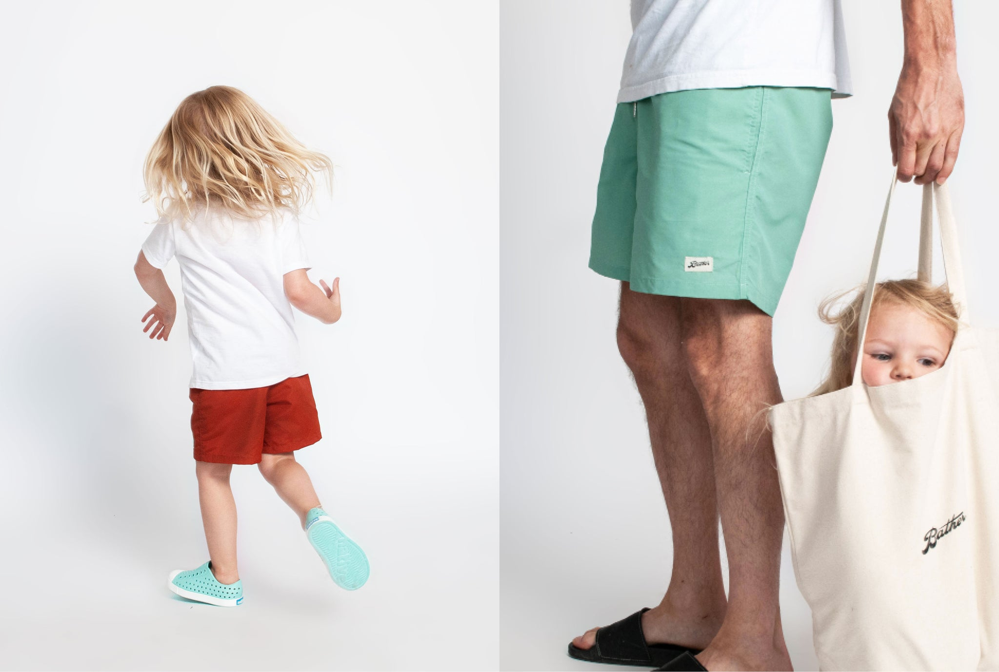 Bather Kids Solid Swim Trunks