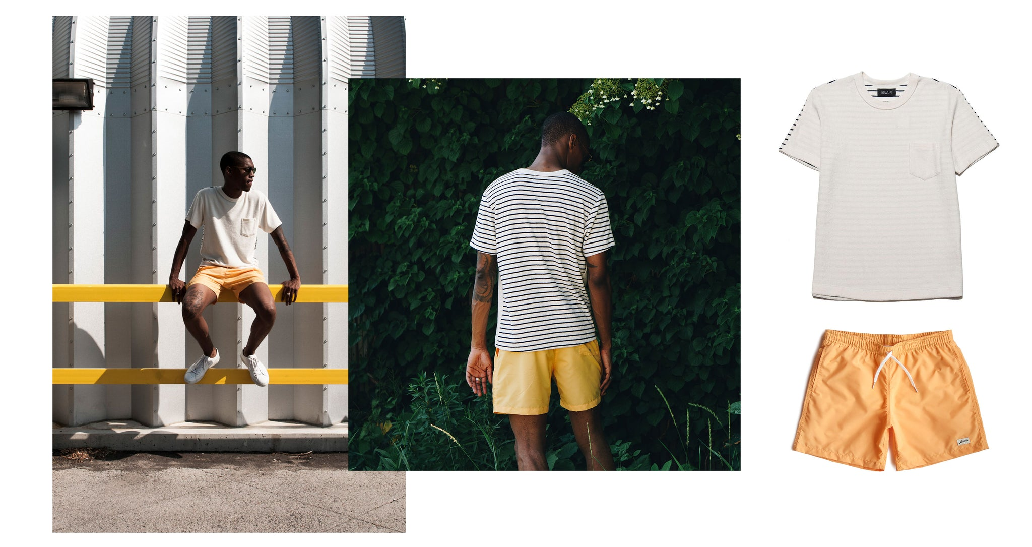 Bather — Outfit Inspiration — Solid Yellow Swim Trunk — Gen Z Yellow