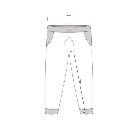 Bather sweatpants technical drawing