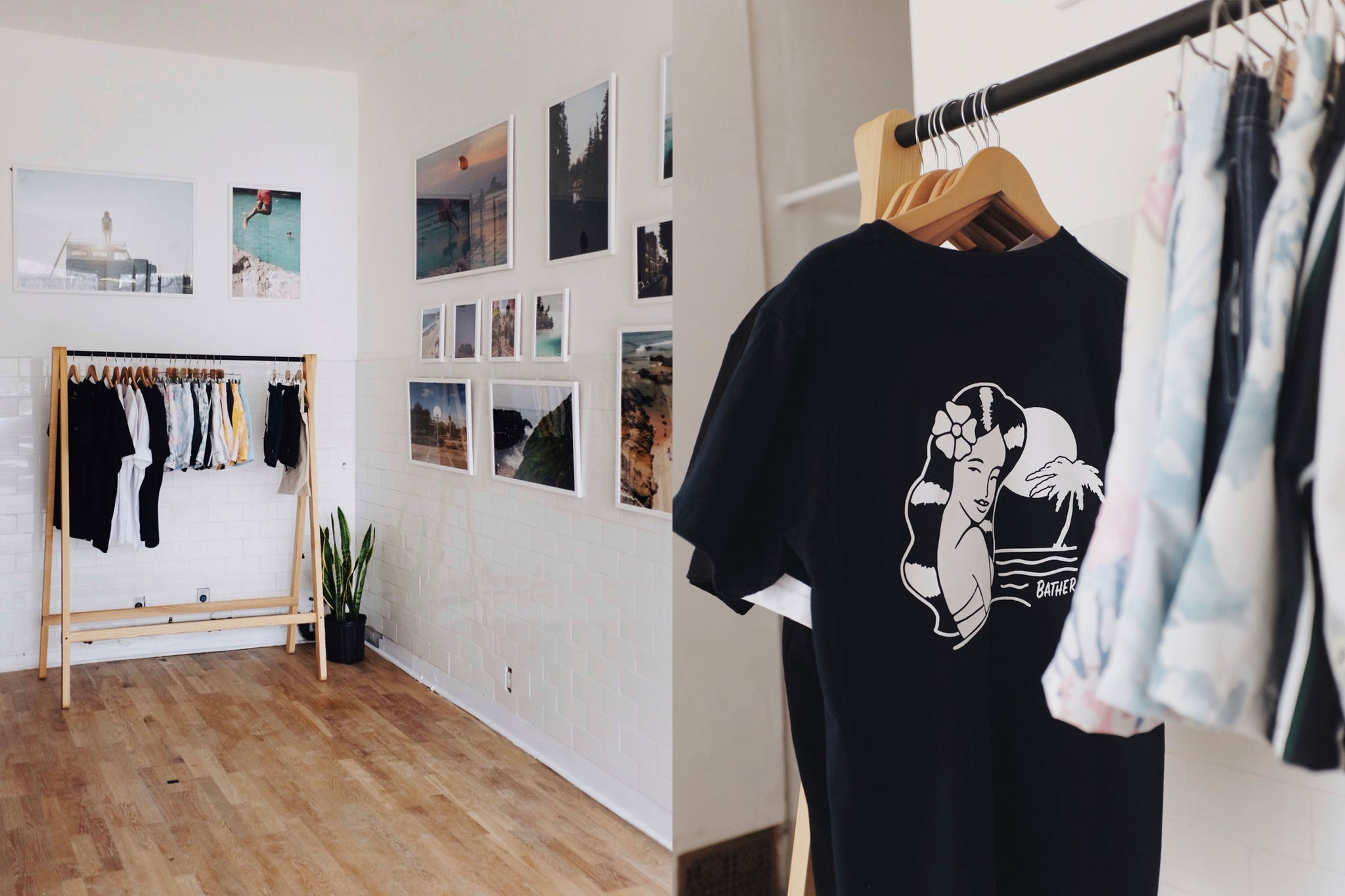 Exclusive merchandise and Resort 2019 at the Wish You Were Here gallery by Bather
