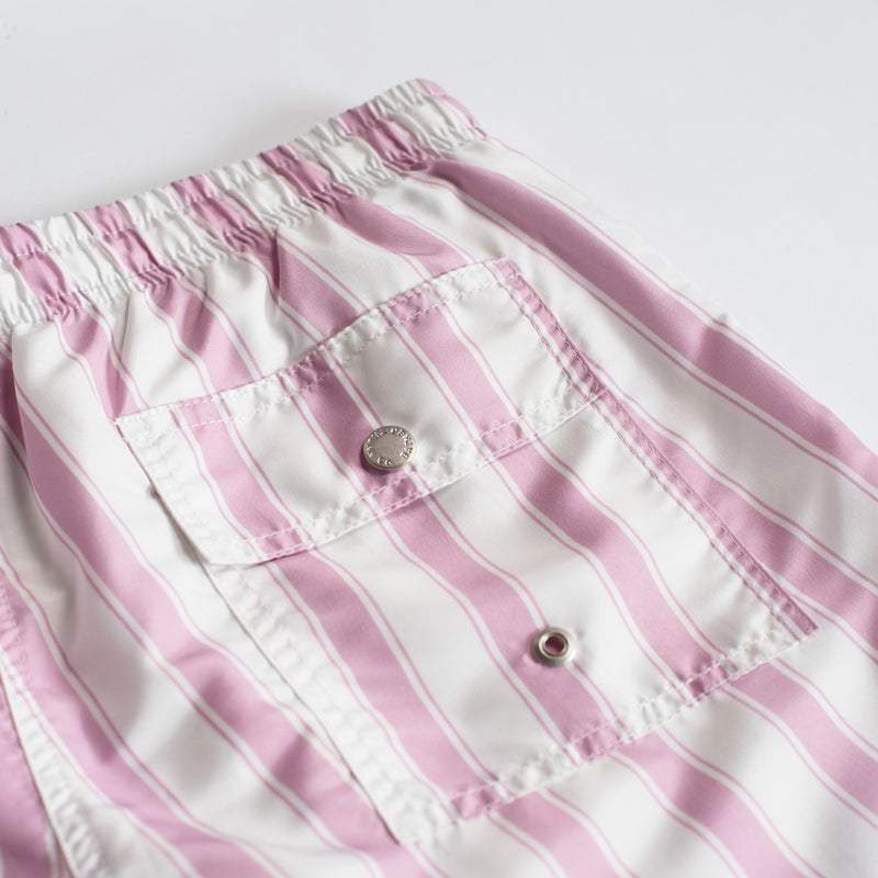 Pink Stripe Swim Trunk