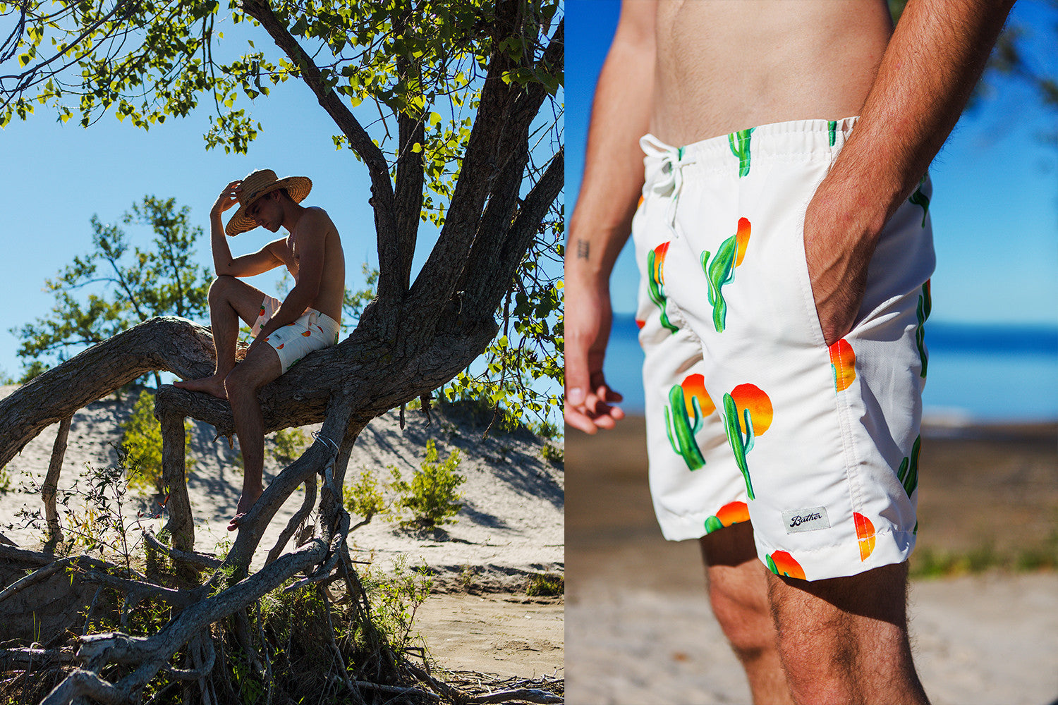 Swim trunk for men by Bather