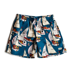 Blue Afternoon Sail Swim Trunk