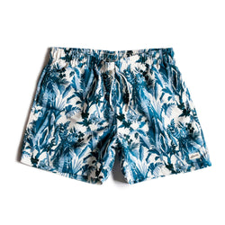 Blue Tropical Forest Swim Trunk