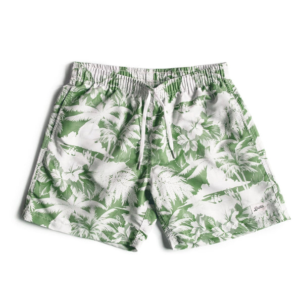 Green Aloha Swim Trunk