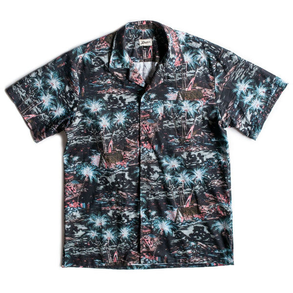 Midnight Hawaii Camp Shirt