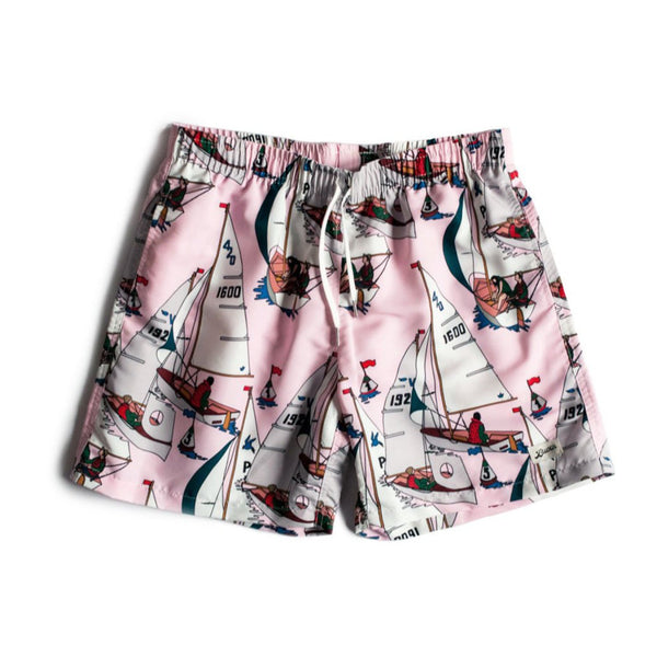 Pink Afternoon Sail Swim Trunk