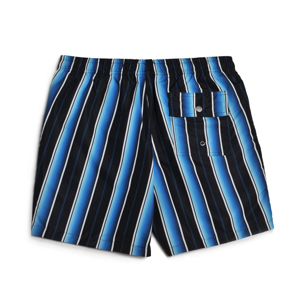 Black Stripe Swim Trunk