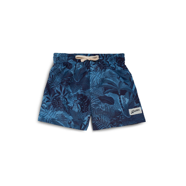 Kids' Navy Watercolour Swim Trunk