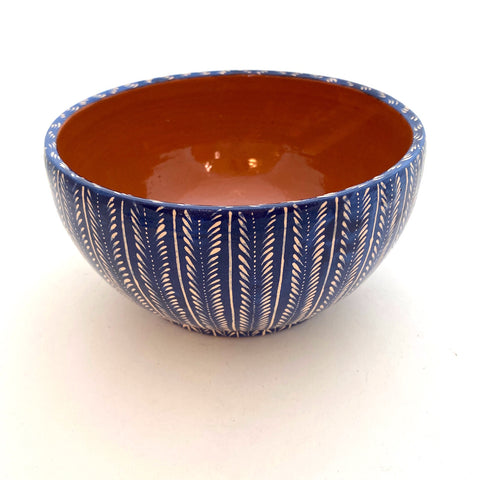 Handpainted Serving Bowl- Navy & White