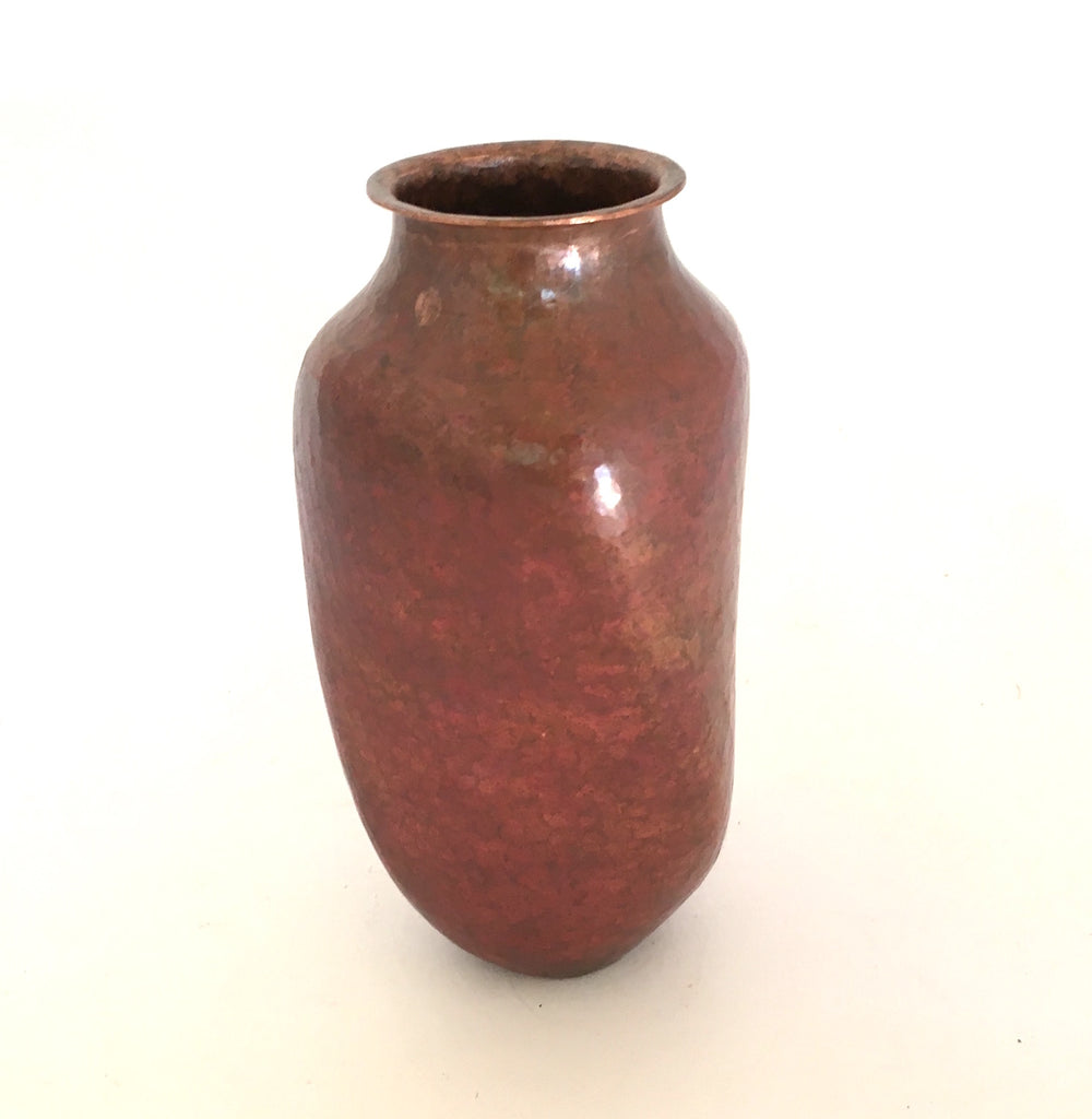 "Small Hammered Copper Vase- ""Torcido"""