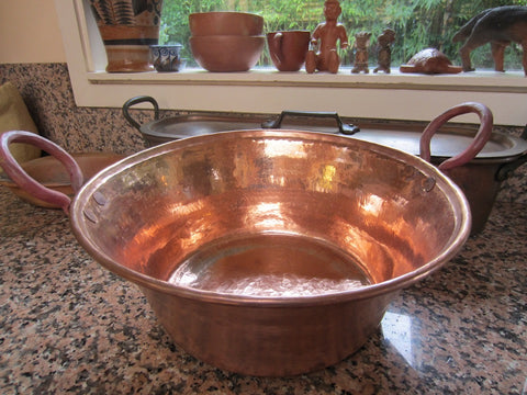 Hammered Copper Cazo -Cooking Pot
