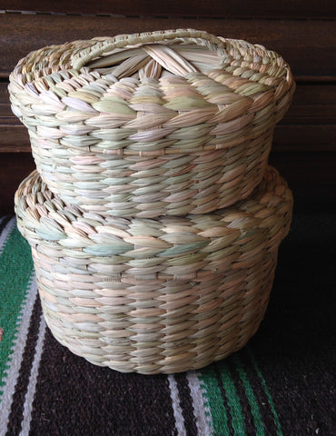 Large Handwoven Tortilla Basket w/lid OUT OF STOCK