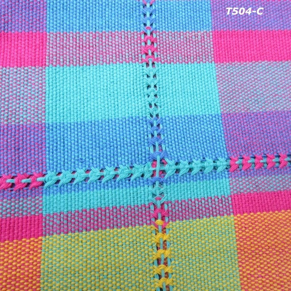 Handwoven cotton napkin from Patzcuaro-cuatro colores