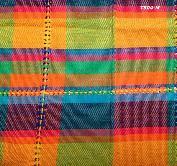Handwoven cotton napkin from Patzcuaro-multicolor