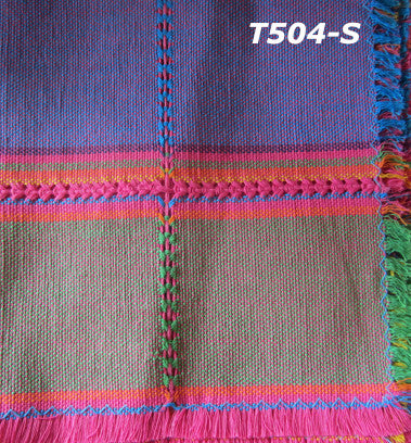 Handwoven cotton napkin from Patzcuaro-serape
