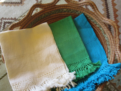 Handwoven cotton napkins from Turicuaro, Michoacán