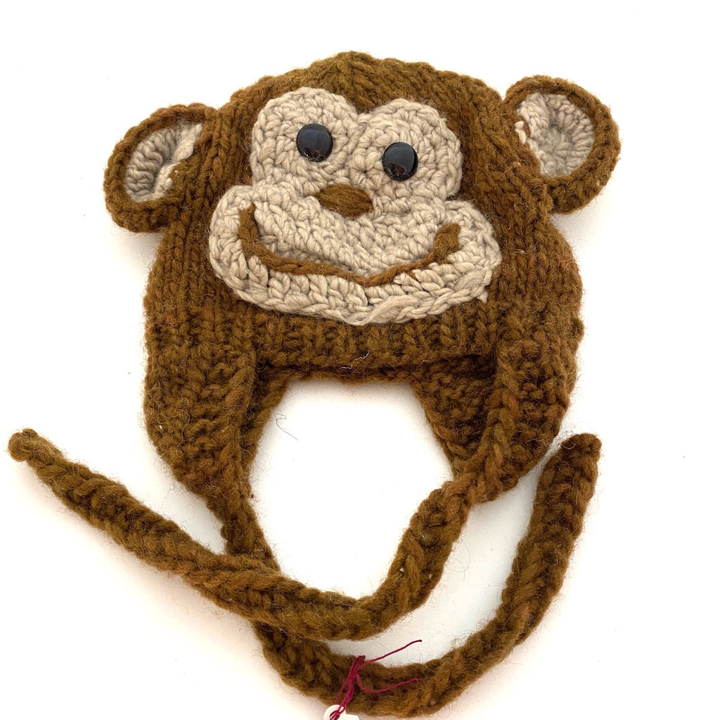 Wool monkey hat