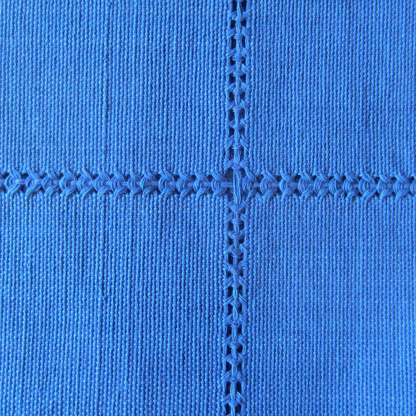 Handwoven cotton napkin from Patzcuaro-Pacifica blue