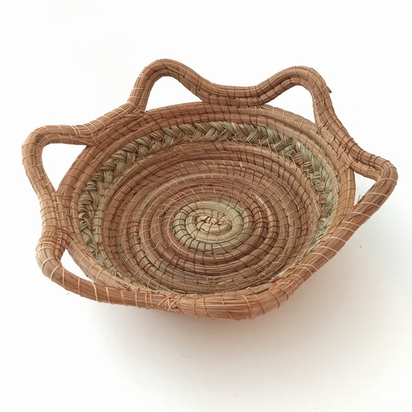 SET OF TWO Handmade Pine Needle Baskets