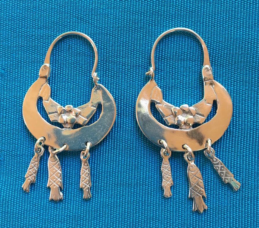 "Silver Earrings- ""3 Pescaditos"""