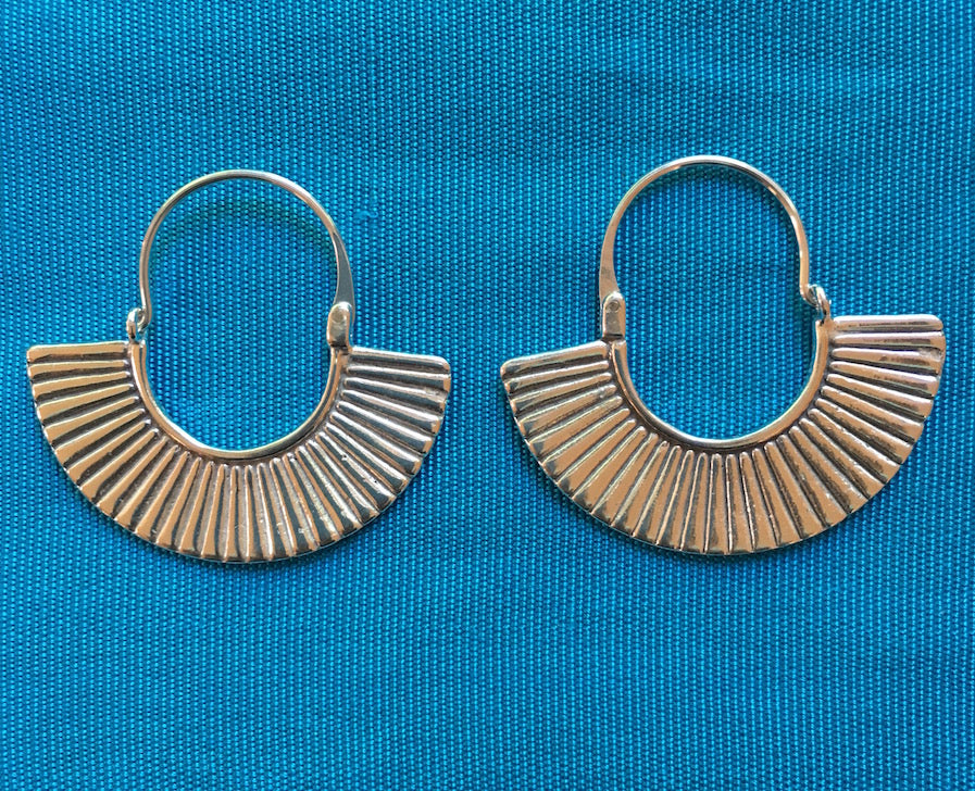 "Silver Earrings -""Egyptian"""