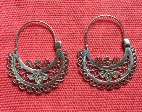 "Silver Earrings - ""Flores"""