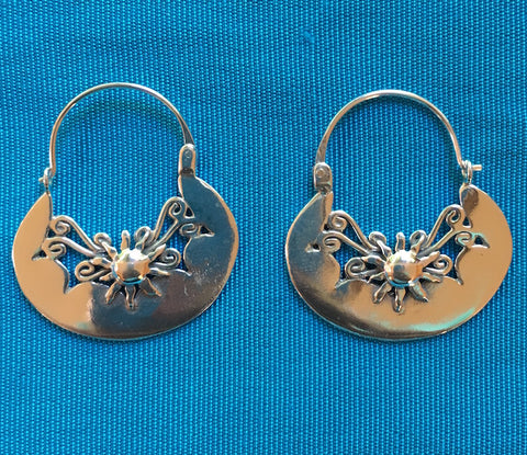 "Silver Earrings -""Sol"" OUT OF STOCK"
