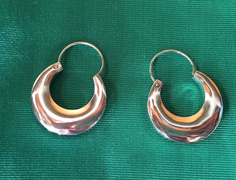 Traditional Purépecha Silver Hoops