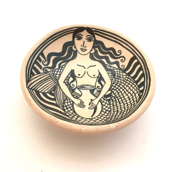 Handpainted Bowls with Mermaid by Angelica Morales Gamez