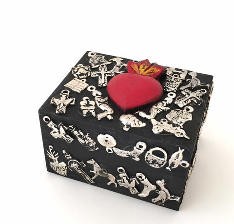 Box with Milagros and Heart OUT OF STOCK