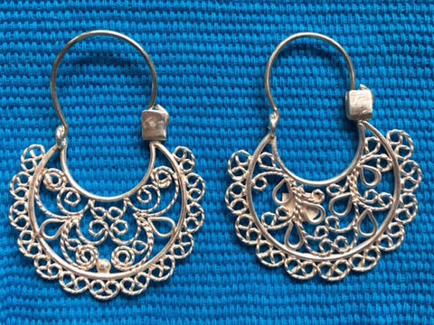 Silver Filigree Earrings - Large OUT OF STOCK