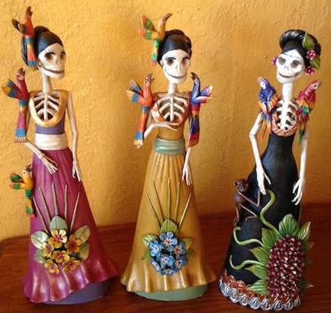 Clay Frida catrina Day of the Dead