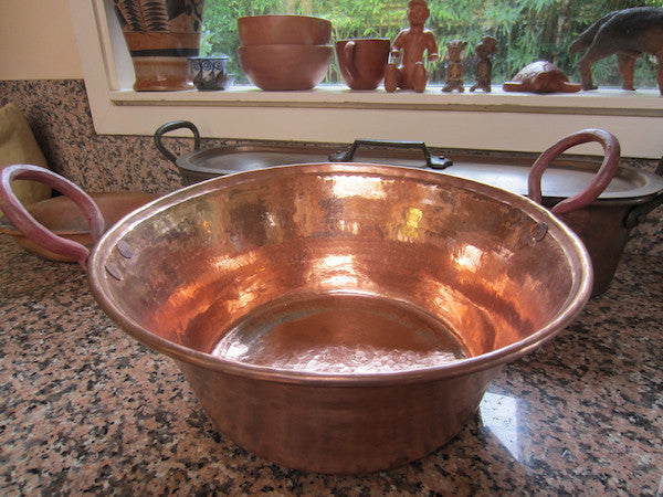 Hammered Copper cazo pot