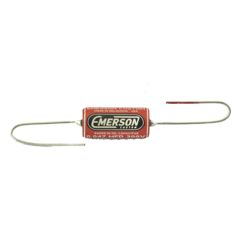 Emerson Custom Paper In Oil Tone Capacitor 0.022UF 300V - Yellow Graphic