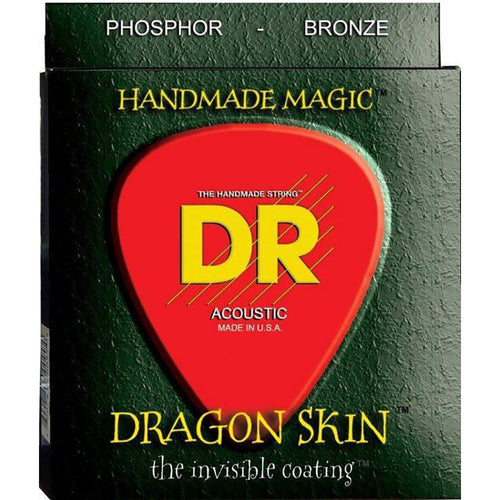 13-56 Medium Dragonskin Clear Coated Acoustic Strings