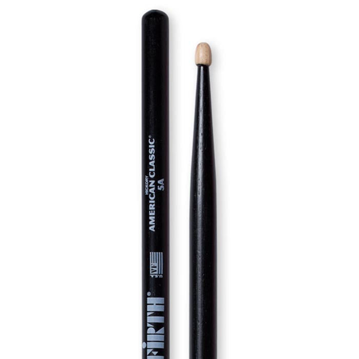 Vic Firth 5A Wood Drumsticks With Black Finish