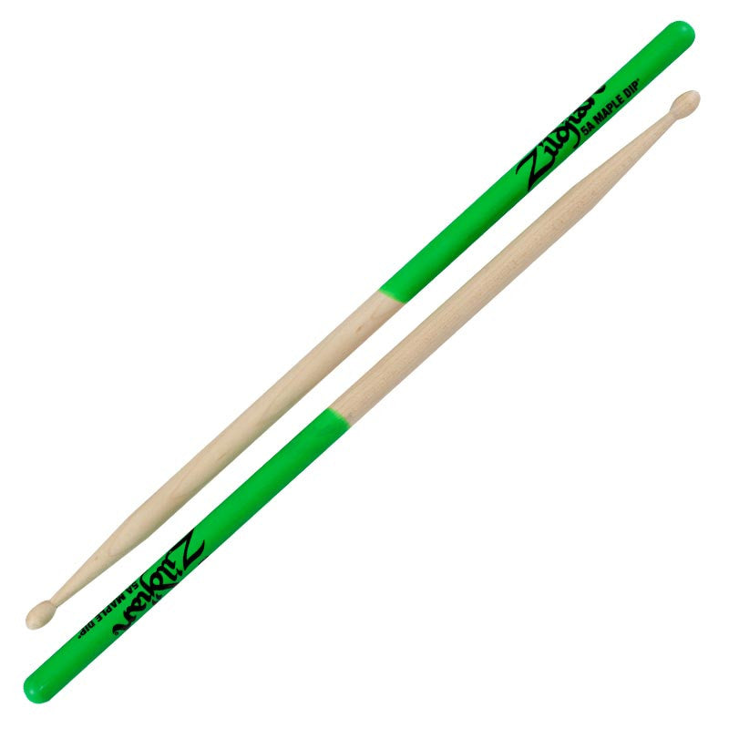 Zildjian 5A Maple Green Dip Drumsticks