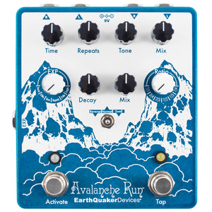 EarthQuaker Devices Avalanche Run V2 Stereo Delay Reverb Pedal
