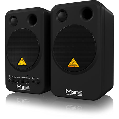 Behringer Ms16 2-Way Active Personal Monitor System, 2 Speakers