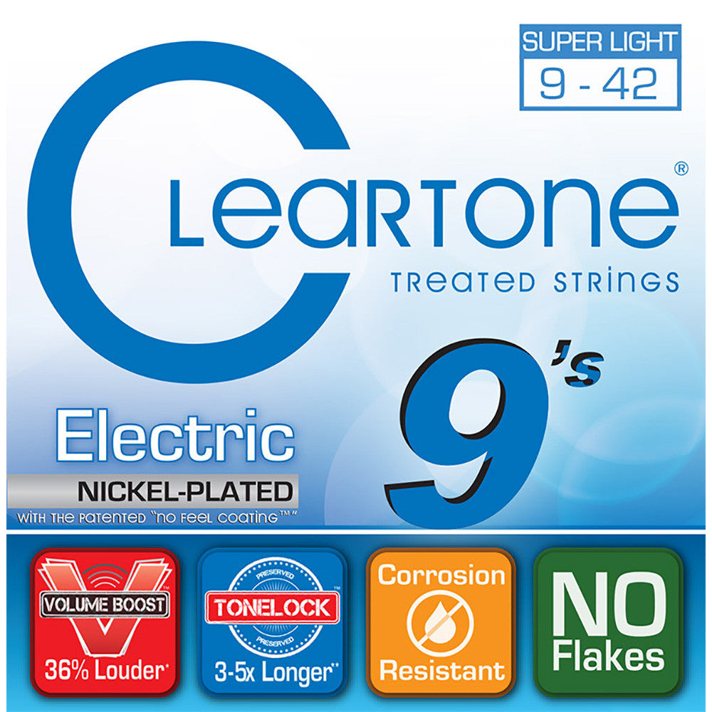 Cleartone .009-.042 Ultra Light Electric Guitar Strings