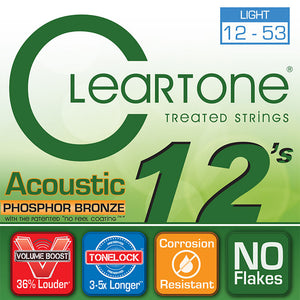 Cleartone .012-.053 Light Phosphor Bronze