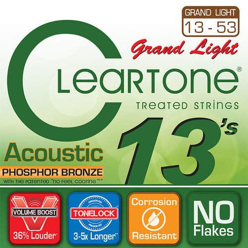 Cleartone .013-.053 Grand Light Phosphor Bronze Acoustic Strings
