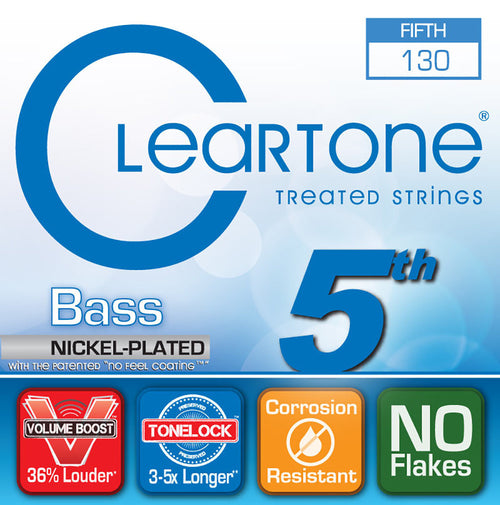 Cleartone Micro-Treated Low B Electric Bass String, .130 5Th String
