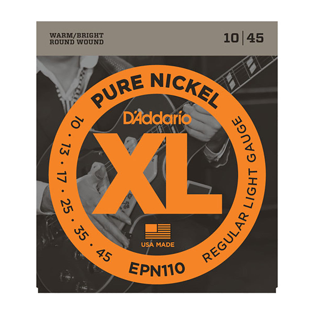 Daddario 10-45 Regular Light Pure Nickel Electric Strings