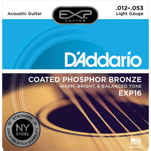 Daddario 12-53 Gauge Coated Phospher Bronze Acoustic Strings