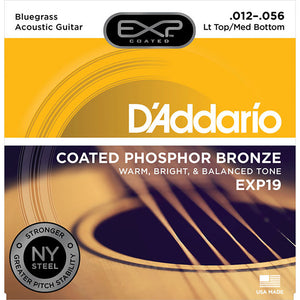 Daddario 12-56 Light Top/Med Bottom Bluegrass Phosphor Bronze